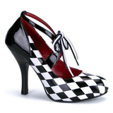 Black White 10,5 cm HARLEQUIN-03 Womens Shoes with High Heels