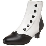 Black White 5 cm FLORA-1023 Ankle Calf Boots Women