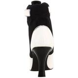 Black White 9,5 cm REFEREE-125 Ankle Calf Boots Women