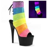 Black glitter 18 cm ADORE-1018RBG Pole dancing ankle boots