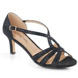 Black glitter 6,5 cm Fabulicious MISSY-03 high heeled sandals