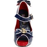 Blau 11,5 cm ANCHOR-22 Damenschuhe mit hohem Absatz