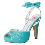 Blau 11,5 cm Pinup BETTIE-01 Sandaletten mit high heels