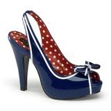 Blau 11,5 cm retro vintage BETTIE-05 Damenschuhe mit hohem Absatz