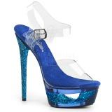 Blau 16,5 cm ECLIPSE-608GT Sandaletten mit stiletto absatz