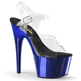Blau 18 cm ADORE-708 Chrome Plateau High Heels