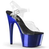 Blau 18 cm ADORE-708 Chrome Plateau High Heels