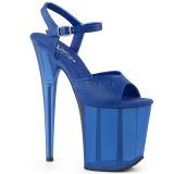 Blau 18 cm FLAMINGO-809T Acryl plateau high heels