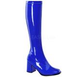 Blau Lack 7,5 cm Funtasma GOGO-300 Damen Stiefel