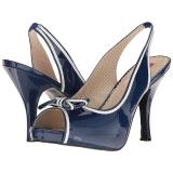 Blau Lackleder 11,5 cm PINUP-10 grosse grössen sandaletten damen
