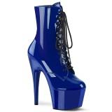 Blau Lackleder 18 cm ADORE-1020 damen stiefeletten plateausohle