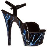 Blau Neon 18 cm Pleaser ADORE-709NLB Plateau High Heels