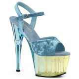 Blau Samt 18 cm ADORE-709MCT pole dance sandaletten