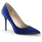 Blau Satin 10 cm CLASSIQUE-20 spitze pumps mit stiletto absatz