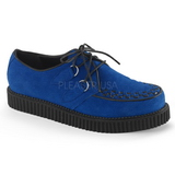 Blau Wildleder 2,5 cm CREEPER-602S Creepers Schuhe Herren