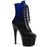 Blau glitter 18 cm ADORE-1020OMB pole dance stiefeletten