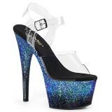 Blau glitter 18 cm ADORE-708SS pole dance high heels schuhe