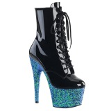 Blau glitter 18 cm Pleaser ADORE-1020LG pole dance stiefeletten
