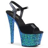 Blau glitter 18 cm Pleaser SKY-309LG pole dance high heels schuhe