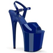 Blau plateau 20 cm FLAMINGO-809 pleaser high heels