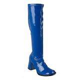Blue Patent 7,5 cm Funtasma GOGO-300 Women Knee Boots