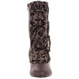 Braun 10,5 cm TESLA-106 Flache Damen Stiefeletten