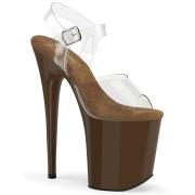 Braun 20 cm FLAMINGO-808 plateauschuhe high heels