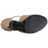Braun Kunstleder 10 cm DREAM-412 grosse grössen sandaletten damen