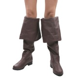 Braun Kunstleder 4 cm MAVERICK-2045 Overknee Stiefel für Männer