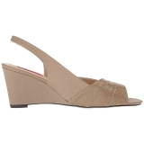 Braun Kunstleder 7,5 cm KIMBERLY-01SP grosse grössen sandaletten damen