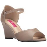 Braun Kunstleder 7,5 cm KIMBERLY-05 grosse grössen sandaletten damen