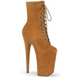 Braun Vegan 23 cm INFINITY-1020FS stiefeletten high heels - extreme plateaustiefeletten
