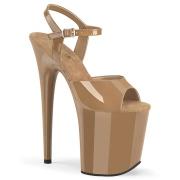 Braun plateau 20 cm FLAMINGO-809-2 pleaser high heels