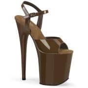 Braun plateau 20 cm FLAMINGO-809 pleaser high heels