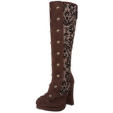 Brown 10 cm CRYPTO-301 Women Knee Boots