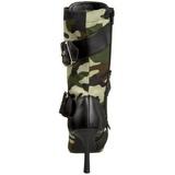 Camouflage 9,5 cm MILITANT-128 Flache Damen Stiefeletten