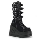 Canvas 12 cm STOMP-210 goth platform ankle boots