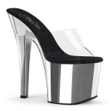 Chrome 18 cm Pleaser RADIANT-701 damen pantoletten schuhe