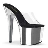 Chrome 18 cm Pleaser RADIANT-701 womens mules shoes