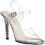 Clear 11,5 cm GALA-08MG High Heeled Stiletto Sandal Shoes
