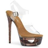 Copper 16,5 cm ECLIPSE-608GT High Heeled Stiletto Sandals