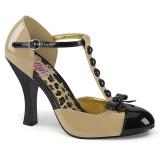Cream Suede 10 cm SMITTEN-10 Rockabilly Pumps with low heels