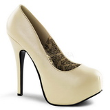 Creme Matt 14,5 cm BORDELLO TEEZE-06 Plateau Pumps