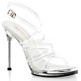 Durchsichtig 11,5 cm CHIC-07 Stiletto Sandaletten mit hohen Absätzen