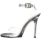 Durchsichtig 11,5 cm GALA-06 Stiletto Sandaletten mit hohen Absätzen