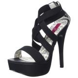 Elastisches Band 14,5 cm Burlesque TEEZE-47W herren high heels für breite füsse