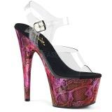 Fuchsia 18 cm ADORE-708SP Hologramm plateau high heels