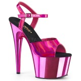 Fuchsia 18 cm ADORE-709HGCH Hologram platform high heels shoes