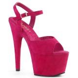 Fuchsia Kunstleder 18 cm ADORE-709FS Sandaletten mit high heels