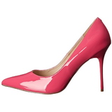 Fuchsia Lack 10 cm CLASSIQUE-20 High Heels Pumps für Männer